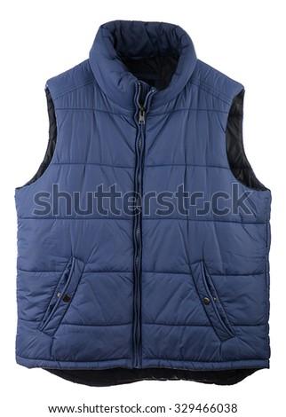 Men's Down Vest  - stock photo