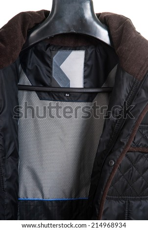 men's fashion winter coat. - stock photo