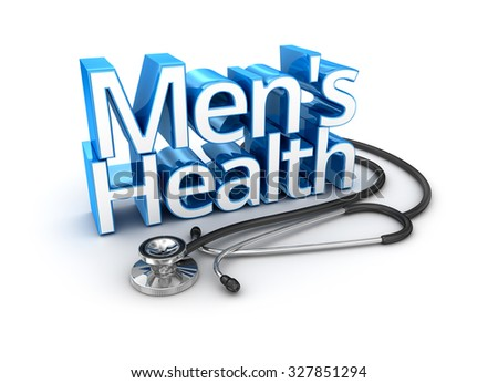 Men's Health text, medicine 3d Concept - stock photo