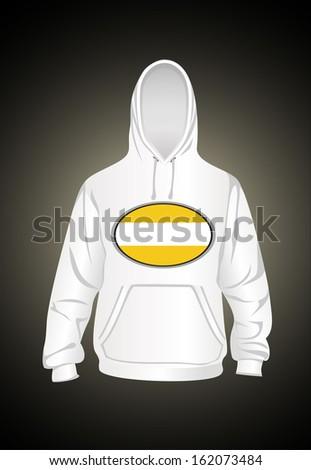 Men's hooded sweatshirt - stock photo