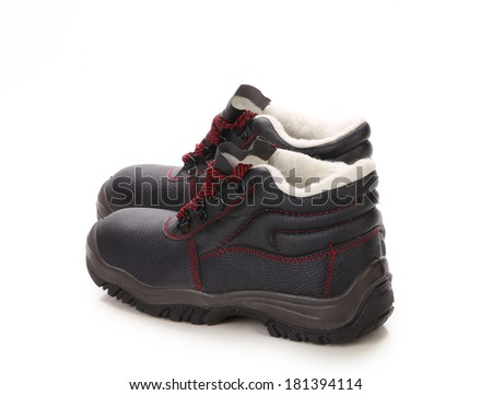Men's leather shoes. Isolated on a white background. - stock photo