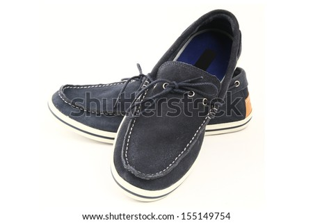 Men's Loafer isolated on a white background. - stock photo