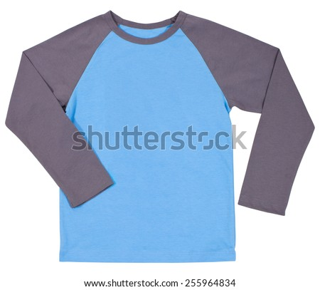 Men's shirt Isolated on a white background. - stock photo