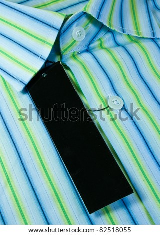 Men's shirt pattern in a comfortable in formal wear. - stock photo