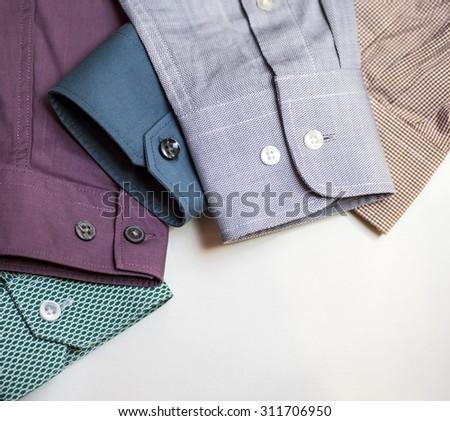 Men's shirt sleeves - stock photo