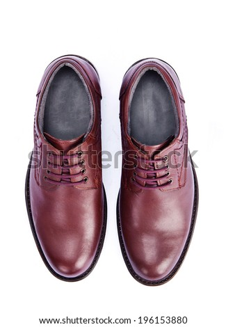 men's shoes on white background - stock photo
