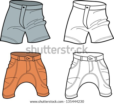 Men's Shorts (front view) isolated on white background