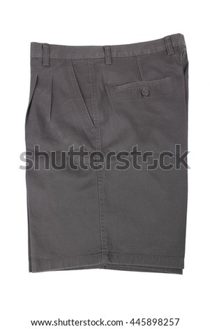 Men's shorts isolated on a white background