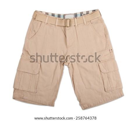 Men's shorts isolated on white background - stock photo