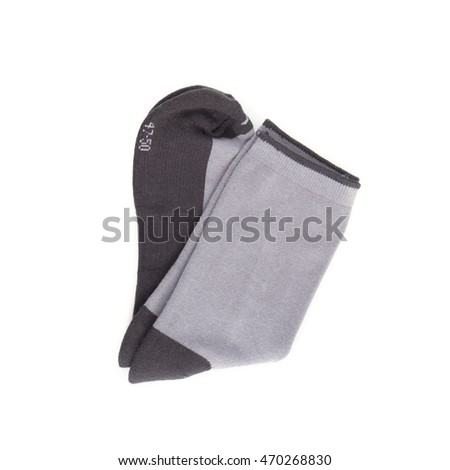 men's socks on white background.