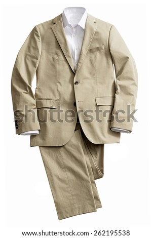 Men's Suit with Shirt - stock photo