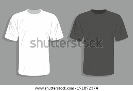 Men's t-shirt design template - stock photo