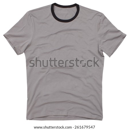 Men's t-shirt isolated on a white background.