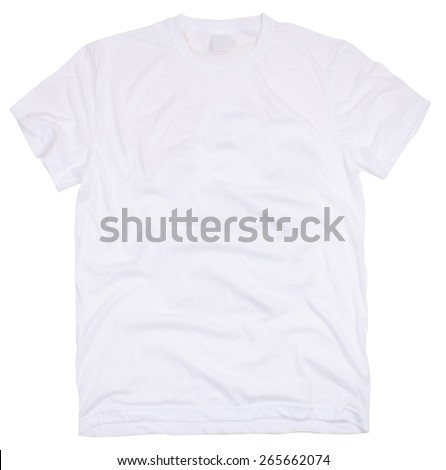 Men's t-shirt isolated on a white background. - stock photo