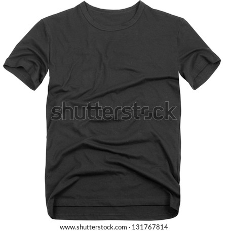 Men's t-shirt isolated on white background. - stock photo