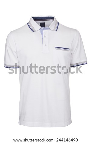 Men's white Polo Shirt isolated