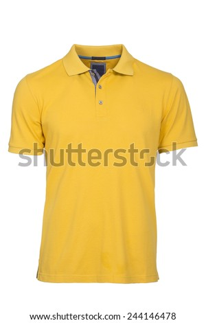 Men's yellow  Polo Shirt isolated - stock photo