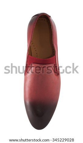 Men shoes over white background