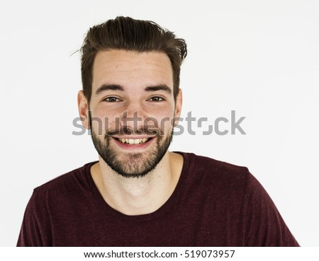 Men Smile Face Expression Portrait Concept