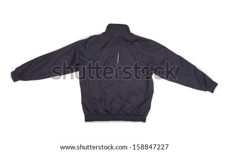 Men sport jacket isolated on white background