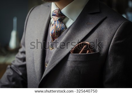 men suit - stock photo