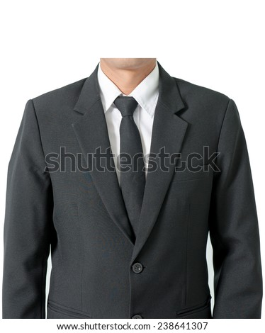 Men suits white background.