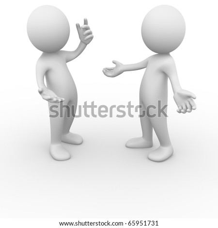 Men talking - stock photo