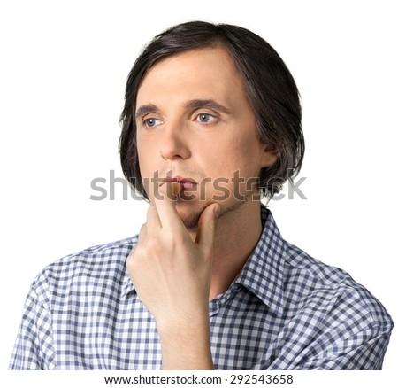 Men, Thinking, Contemplation. - stock photo