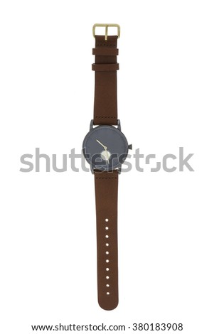 Men watch isolated on white background