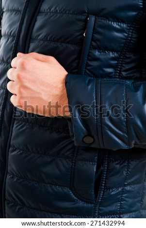 Men winter fashion. Handsome man in a coat. Cold. Casual look. Studio shot isolated on white background. Happy handsome Caucasian man portrait isolated on white - stock photo