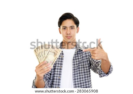 Men with the bill - stock photo