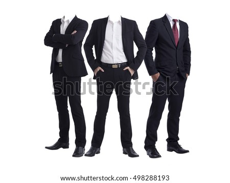 men without head isolated