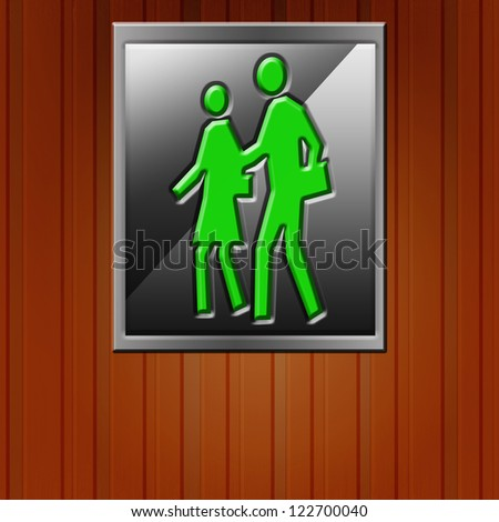 Men Woman icon on wood background