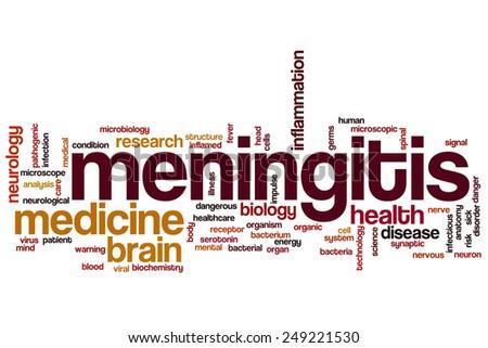 Meningitis word cloud concept - stock photo