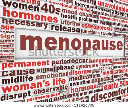 Menopause poster design. Woman's life symbol conceptual design - stock photo