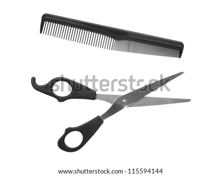 Mens grooming items isolated against a white background - stock photo
