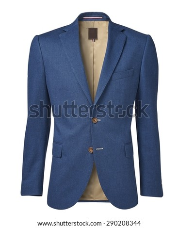mens jacket isolated on white. with an alpha channel
