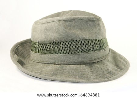 Mens outback cotton hat isolated on white background - stock photo