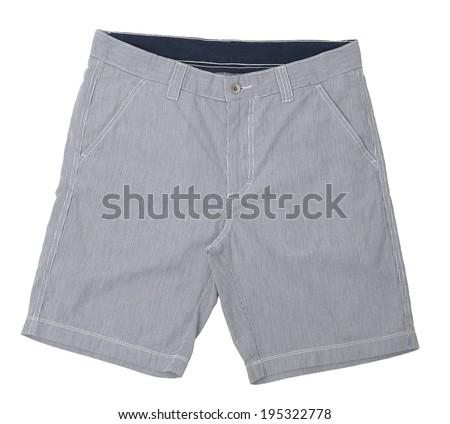 Mens shorts isolated on white background - stock photo