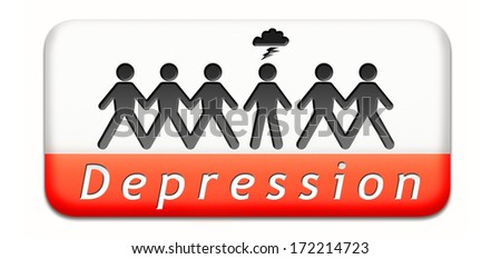 mental depression due to stress psychology and mental health spycho therapy or Antidepressant