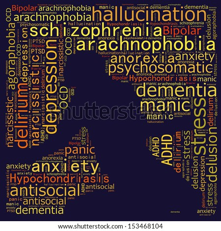 Mental disorders and psychological concerns - stock photo