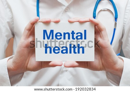 Mental Health - stock photo