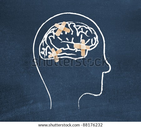 Mentally ill - stock photo