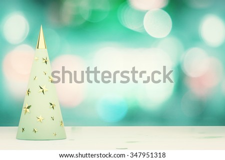 Menthol christmas tree with golden studs - stock photo