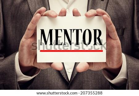 Mentor. Business Concept - stock photo