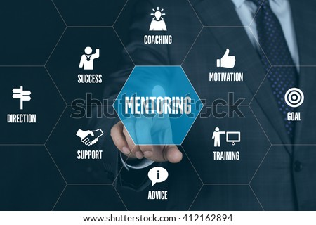 MENTORING TECHNOLOGY COMMUNICATION TOUCHSCREEN FUTURISTIC CONCEPT