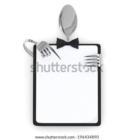 menu card - stock photo