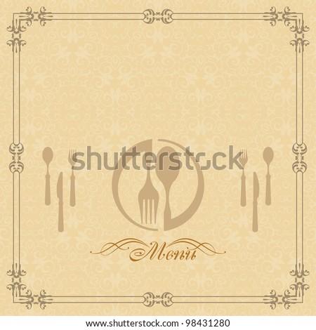 Menu Design Template - stock photo