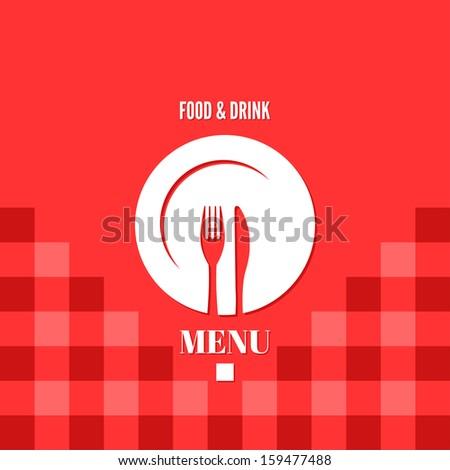 menu food and drink design illustration - stock photo
