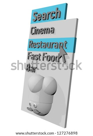 MENU SEARCH RESTAURANT - 3D